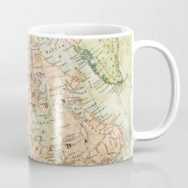 North America Vintage Map Coffee Mug