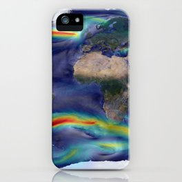 316. A Portrait of Global Winds iPhone Case