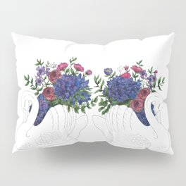 Twin Crown Lynn Swans Pillow Sham