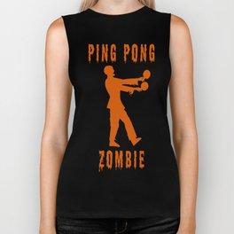 Funny Ping Pong Zombie Biker Tank