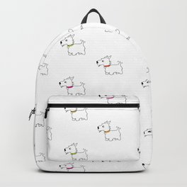 Westie West Highland White Terrier Backpack