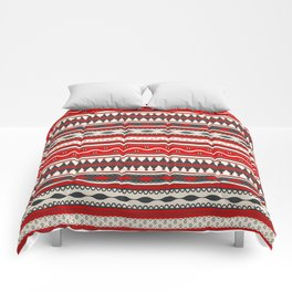 Traditional Romanian embroidery seamless pattern design Comforters