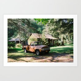 Parked By The Cabin Art Print