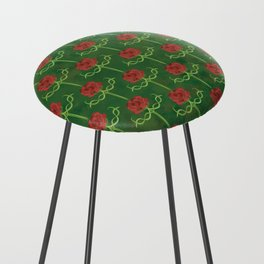 Spring Roses Pattern Counter Stool