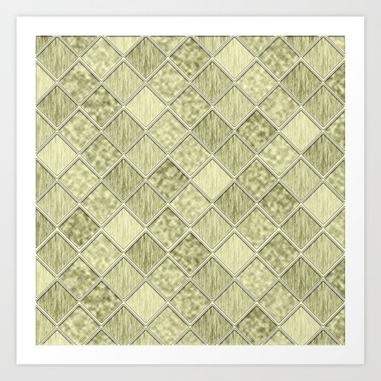 Colorful Seamless Rectangular Geometric Pattern III Art Print