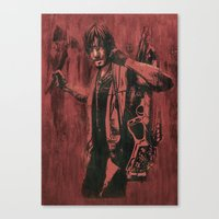 daryl dixon Canvas Prints featuring Daryl Dixon by ArtCandy Studio
