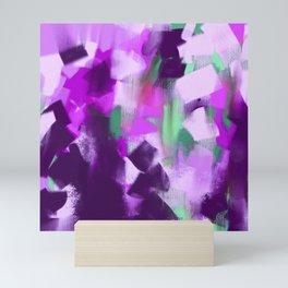 Modern hand painted violet lavender pink watercolor brushstrokes Mini Art Print