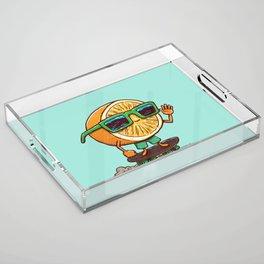 The Orange Skater Acrylic Tray