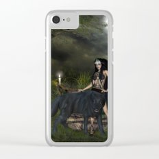 The awesome wolf Clear iPhone Case
