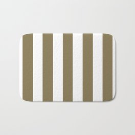 Gold Fusion grey - solid color - white vertical lines pattern Bath Mat