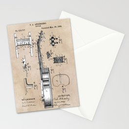 patent art Anderberg 1894 Guitar Stationery Cards