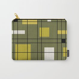 1950's Abstract Art Avocado Green Carry-All Pouch