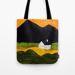 Hillside home Tote Bag