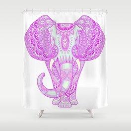 Mandala elephant pink Shower Curtain