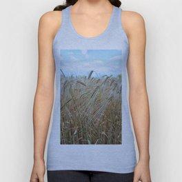 beautiful barley field Unisex Tank Top