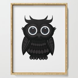Black Owl Serving Tray