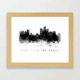 Detroit Rise From The Ashes Framed Art Print