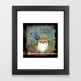 Bad bird Framed Art Print