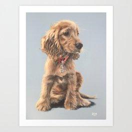 Golden Cocker Spaniel Puppy Art Print