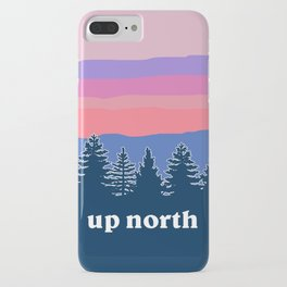 up north, pink hues iPhone Case