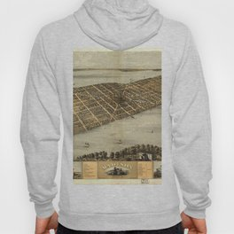 Vintage Pictorial Map of Madison Wisconsin (1867) Hoody
