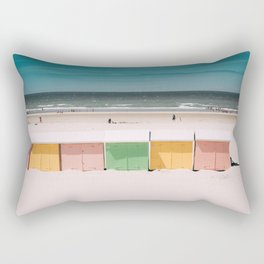 Beach Cabins North Sea Rectangular Pillow