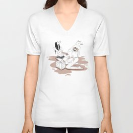 Oil me up before you go go Unisex V-Neck