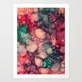 Pink Marble Print Art Print