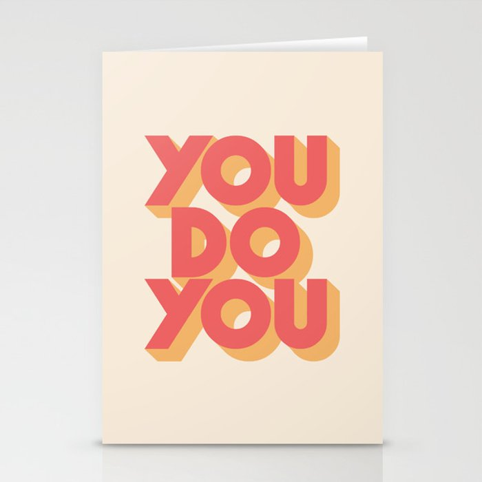 You Do You Block Type Stationery Cards