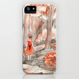 Deep in the fall forest iPhone Case