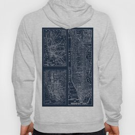 Vintage New York City Street Map Hoody
