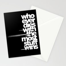 whoever dies with the most stuff wins Stationery Cards