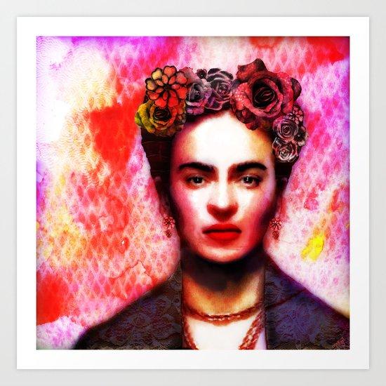 Viva Frida  Art Print