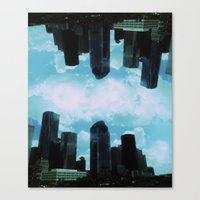 houston Canvas Prints featuring Houston, by LUCJPG