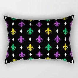 Mardi Gras Pattern | Funny Carnival Graphic Rectangular Pillow