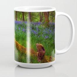 Bluebells and a fallen tree Coffee Mug