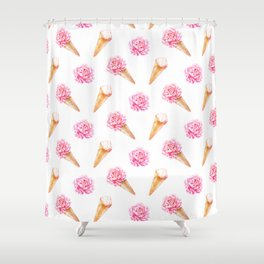 Floral Cones Shower Curtain