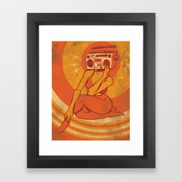 She Goes Boom Framed Art Print