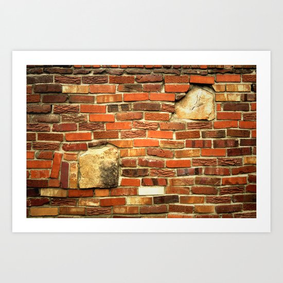 brickwall Art Print