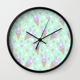Berry Melty Bunnies Wall Clock