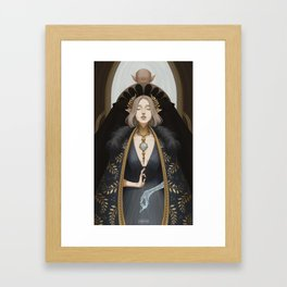 The lovers at the crossroads Framed Art Print