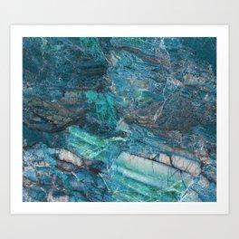 Siena turchese - blue marble Art Print