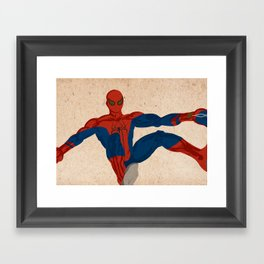 spiderman, spiderman does whatever a spider can Framed Art Print