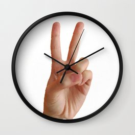 Peace Out 2017 Wall Clock