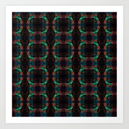 Rose Kaleidoscope  Art Print