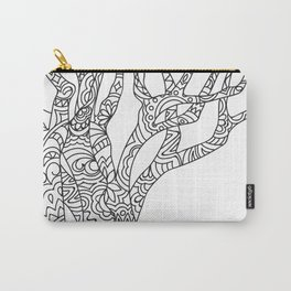 zen doodle tree Carry-All Pouch