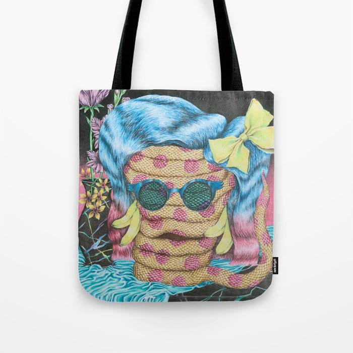 Still Life with Pizza Snake Tote Bag