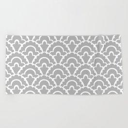 Fan Pattern Gray 115 Beach Towel