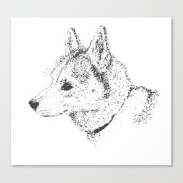 Husky, Not Big-Boned Canvas Print