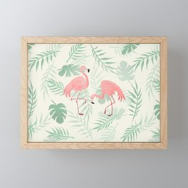 Flamingo Love Tropical Framed Mini Art Print